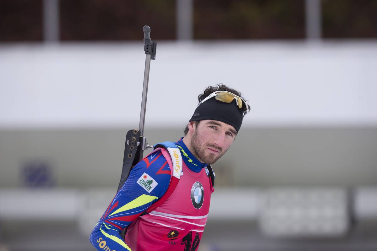 10.01.2016, Ruhpolding, Germany (GER): Jean Guillaume Beatrix (FRA) -  IBU world cup biathlon, mass men, Ruhpolding replacing Oberhof (GER). www.nordicfocus.com. © Manzoni/NordicFocus. Every downloaded picture is fee-liable.
